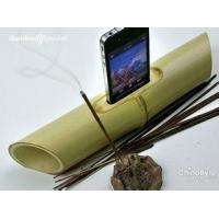 Wholesale Nature portable bamboo loudspeaker, wood bamboo amplifier speaker for iPhone 6 from china suppliers