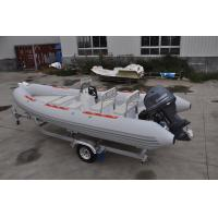 Wholesale 540cm orca Hypalon patrolling  and rescuing   inflatable rib boat  rib540 with  center console more seats from china suppliers