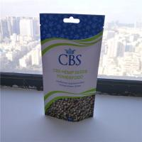 Wholesale Matte White Hemp Seeds Resealable Packaging Bags , Plastic Pouch Packaging from china suppliers