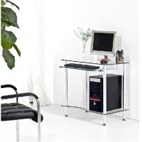 Wholesale Tempered Contemporary Glass Space Saving Computer Desk For Small Room DX-G016 from china suppliers