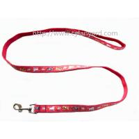 Wholesale Jacquard ribbon polyester dog leads with heavy duty metal clasp hook, premium, from china suppliers