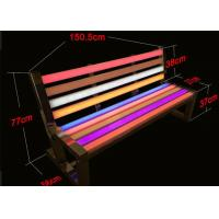 Buy cheap Outdoor Rgb Rechargeable LED Light Chair Colorful Park Bench 2 Years Warranty from wholesalers