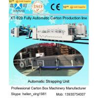 Wholesale High Speed Carton Box Manufacturing Machine Gluer Strapper Inline 300 Pcs / Min from china suppliers