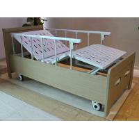 Wholesale Aluminum guard rails two cranks manual care bed with wood bed frame from china suppliers
