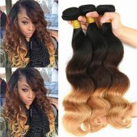 Wholesale Brazilian Ombre Human Hair Body Wave, No Shedding Color1b/4/27# Coloured Hair Extensions from china suppliers
