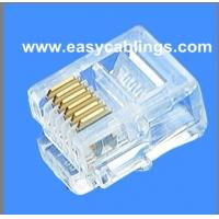 Wholesale RJ45 8P8C Connector RJ11 4P4C Gold Plated Plug RJ12 6P6C Modular Plug from china suppliers