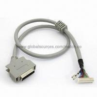 Wholesale HPCN50 Cable with Right Angle SCSI HPCN 50 Pins Male Connector to Terminal Housing/Socket from china suppliers