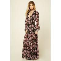 Wholesale Floral Print Sexy Womens Chiffon Formal Dresses V Neck Long Sleeve Multi Colors from china suppliers