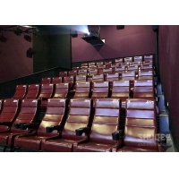 Wholesale 12 HZ Vibration Rate Comfortable Red Cinema Seats in Special Effects With Cup Holder from china suppliers