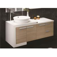 Wholesale Custom Bathroom Vanities For Small Bathrooms , Yellow Free Standing Bathroom Vanity Units from china suppliers