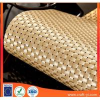 Buy cheap golden color 4X4 weave style Textilene mesh fabrics high strong  tension from wholesalers