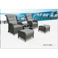 Wholesale Adjustable Outdoor Lounge Chairs , Rattan Garden Chairs With Cushion from china suppliers