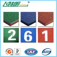 Wholesale Self - knot Pattern Blue Rubberized Running Track Surfaces Green Sports Surfacing Recycled Flooring from china suppliers