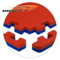 Wholesale Gym mat/Sport mat 1m*1m wtih double colour and high density EVA foam from china suppliers