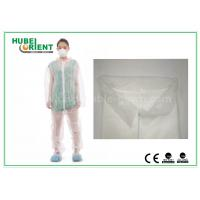 Wholesale White Disposable Coveralls Non Woven For Medical Without Hood , Free Sample from china suppliers
