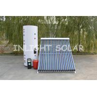 Wholesale 300 Liter Heat Pipe Split Solar Water Heater With Double Coil , Color Steel Material from china suppliers