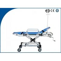 China Light Weight Ambulance Trolley Stretchers Foldable Aluminum Alloy For Transporting Patients on sale