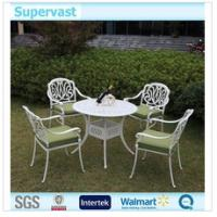Wholesale White Cast Aluminum Outdoor Furniture , 5 Piece Patio Dining Sets For Leisure from china suppliers