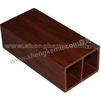 Buy cheap 75*50 Square wood wood plastic composite material pvc decking waterproof from wholesalers