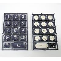 Wholesale Telephone Keyboard Double Injection Molding Process Parts Black And White from china suppliers