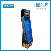 Buy cheap floor cardboard display stand with hooks from wholesalers