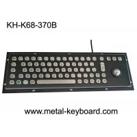 Wholesale Black Metal Stainless steel Industrial Desktop Keyboard with Trackball Pointing Device from china suppliers