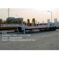 Quality 40ft Dimensions tri-axle lowbed semi trailer truck and high bed  truck semi trailer for sale