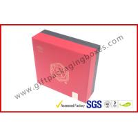 Wholesale Red PP Paper Printed Divided Packaging Boxes Lid and Base Expensive Gift Boxes from china suppliers