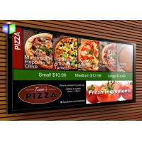 Wholesale Backlit Advertising Aluminum LED Light Box Fast Food Menu Board For Restaurant from china suppliers