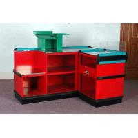 Wholesale Steel Plastic Material Supermarket Cashier Counter , Retail Check Out Counters from china suppliers
