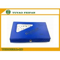 Wholesale Blue PVC Box Veined Marble Wooden Dominoes Set With SGS / ICTI from china suppliers