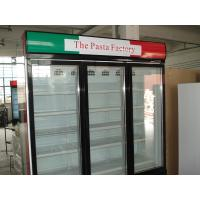 Quality 3 Doors Automatic Defrost Upright Commercial Display Freezer -25°C Fan Cooling Swing Door for sale