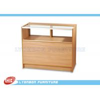 Wholesale ODM MDF One - Third Vision Cash Register Counter Ample Storage With Adjustable Shelf from china suppliers