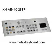 Wholesale Waterproof SS Industrial Metal Keyboard With Touchpad , Rated Colorful Image Of Keys from china suppliers