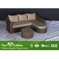 Quality Garden Alum Rattan Sofa Patio Furniture Seating Sets With Big Soft Cushions for sale