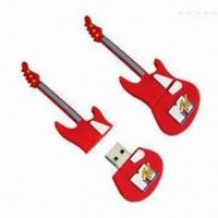 Buy cheap Guitar-shaped USB Flash Drive, Made of PVC, 1/2/4/8/16/32GB Memory Capacity  from wholesalers