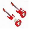 Buy cheap Guitar-shaped USB Flash Drive, Made of PVC, 1/2/4/8/16/32GB Memory Capacity from wholesalers