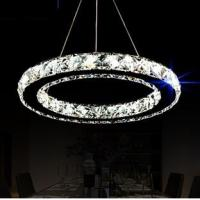 Wholesale K9 Crystal Modern Glass Chandelier Lighting 1 Circle 12w LED Fashion Style from china suppliers