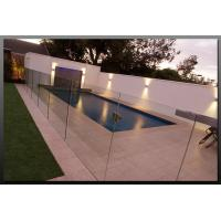 Wholesale Tempered Swimming Pool Glass Fencing , Glass Deck Fencing Blue from china suppliers