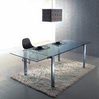 Wholesale 15mm Clear Glass Table For Office , Tempered Glass With Morden Design from china suppliers