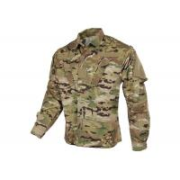 Tilted Chest Pocket Polyester Army Military Uniforms / Winter Work Jackets for sale