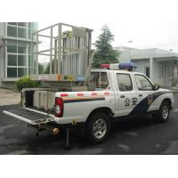 Wholesale Hydraulic Aluminium Alloy Trailer Man Lift , Double Mast Trailer Mounted Boom Lift from china suppliers