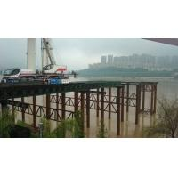 Wholesale Steel Truss Structure Temporary Construction Bridge With Recyclable Over Sea Platform from china suppliers