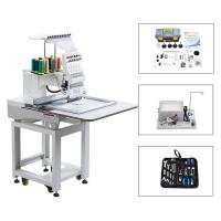 Buy cheap Touch Screen Computerized Single Head Cap Embroidery Machine Wooden Packing from wholesalers