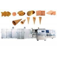 Wholesale 1.5KW Sugar Cone Production Line / 71 Baking Plates Ice Cream Wafer Machine With Double Door from china suppliers