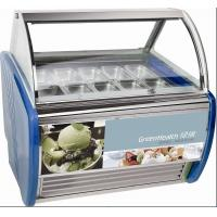 Wholesale 10 Pans Blue Hard Ice Cream Display Freezer Custom For Store / Mall from china suppliers