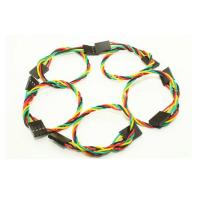 Wholesale 4Pin Dupont Jumper Wires 2.54 Spacing Pin Headers , 20cm Length from china suppliers