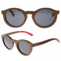 Wholesale Polarized Lens Wooden Sunglasses Skateboard Sunglasses Uv400 Protection Round from china suppliers