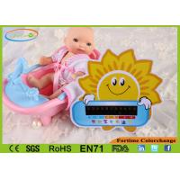 Buy cheap Handheld Card Water Thermometer For Baby Bath , Lovely Sunflower Style from wholesalers