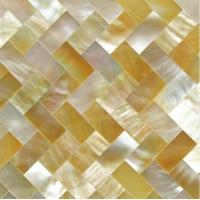 Wholesale Handmade Beautiful Sea shell Wall Panel Yellow Butterfly Shell Decoration Panel 10x20mm from china suppliers